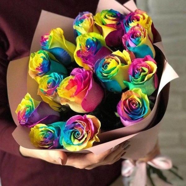 радужные розы Красноярск