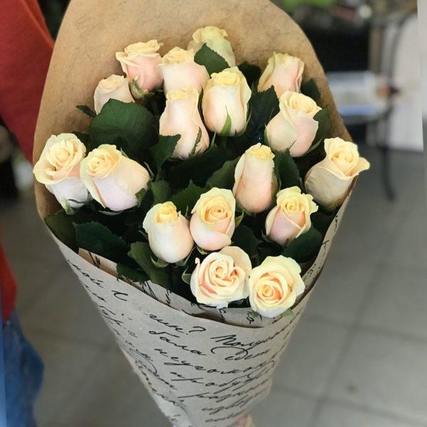 кремовые розы Красноярск